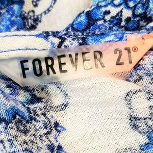 Forever 21 Pants - FOREVER 21 FLOWY JUMP SUIT BLUE & WHITE SUMMER LG